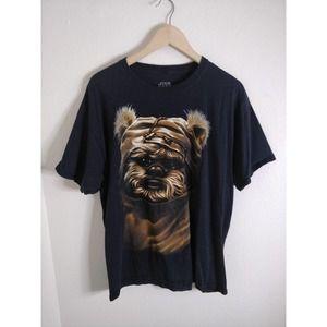 Star Wars Black Graphic Tee T-shirt L